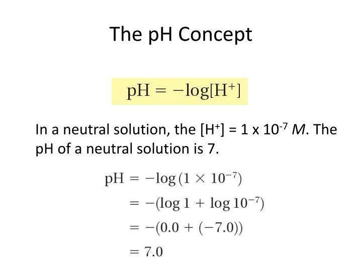 The pH Concept