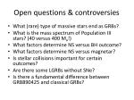 open questions controversies