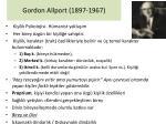 gordon allport 1897 1967