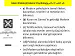 slami psikoloji islamic psychology