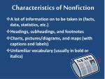characteristics of nonfiction