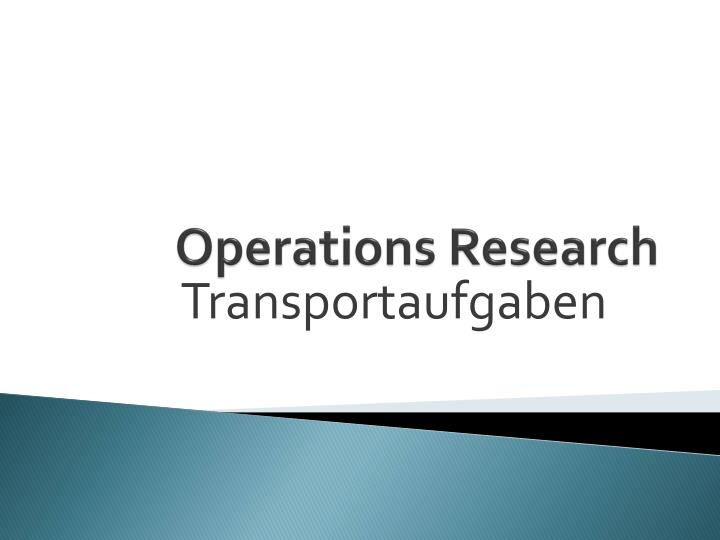 operations research n.
