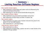 summary limiting reaction diffusion regimes