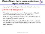 effects of lower hybrid power application on edge sol turbulence