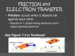 friction and elelctron transfer