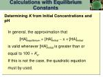 calculations with equilibrium constants2