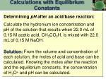 calculations with equilibrium constants4