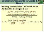 equilibrium constants for acids bases13