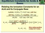 equilibrium constants for acids bases14