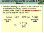 equilibrium constants for acids bases2