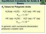 equilibrium constants for acids bases8