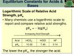 equilibrium constants for acids bases9