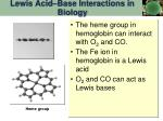 lewis acid base interactions in biology