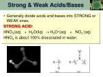 strong weak acids bases