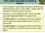 the lewis concept of acids bases