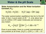 water the ph scale