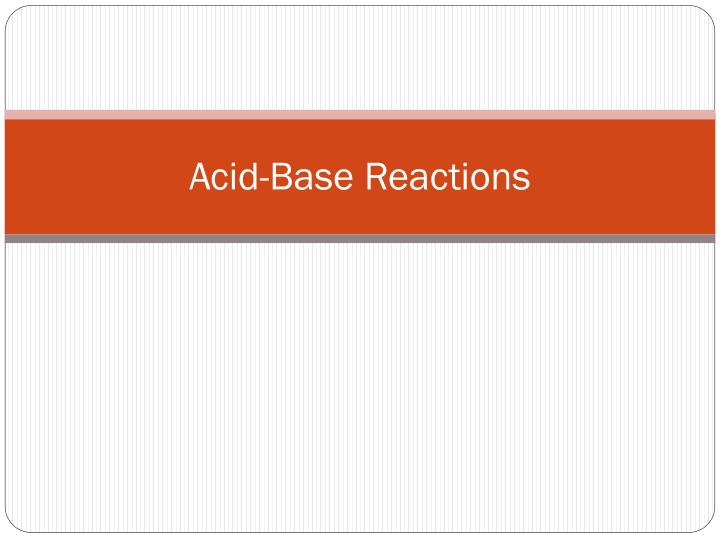 acid base reactions n.
