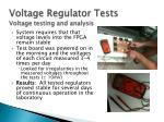 voltage regulator tests voltage testing and analysis