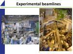 experimental beamlines
