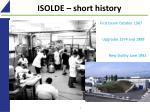 isolde short history