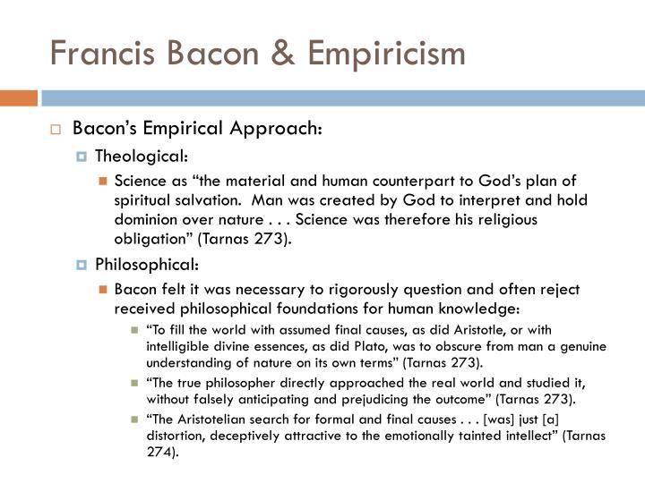 Francis Bacon & Empiricism