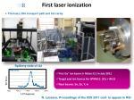 first laser ionization