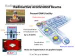 radioactive accelerated beams