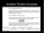 another titration example