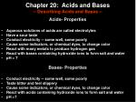 chapter 20 acids and bases describing acids and bases