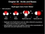 chapter 20 acids and bases hydrogen ions and acidity