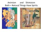 animism and shintoism both natural things have spirits