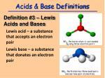 acids base definitions