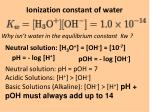 ionization constant of water