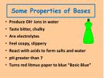 some properties of bases