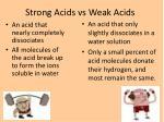 strong acids vs weak acids