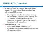 saber ecd overview