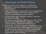 example of main points1