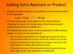 adding extra reactant or product