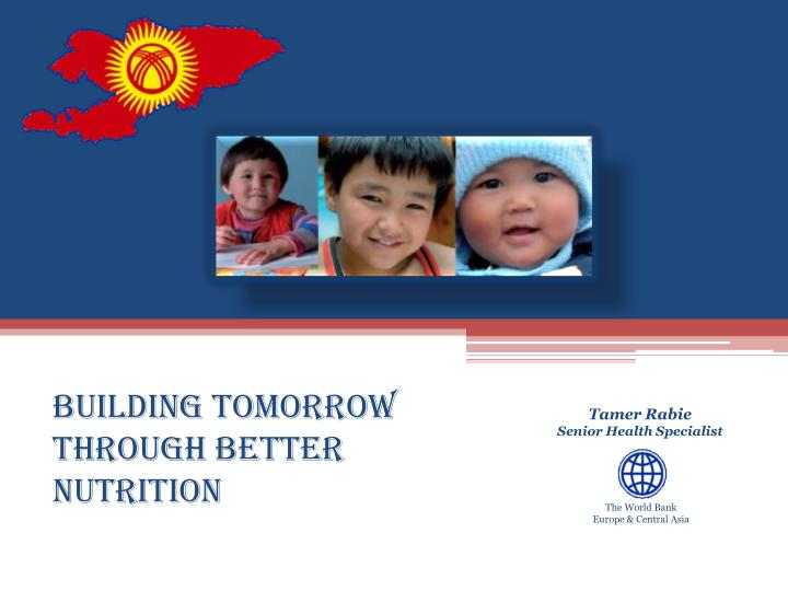 building tomorrow through better nutrition n.