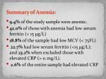 summary of anemia