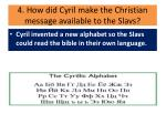 4 how did cyril make the christian message available to the slavs