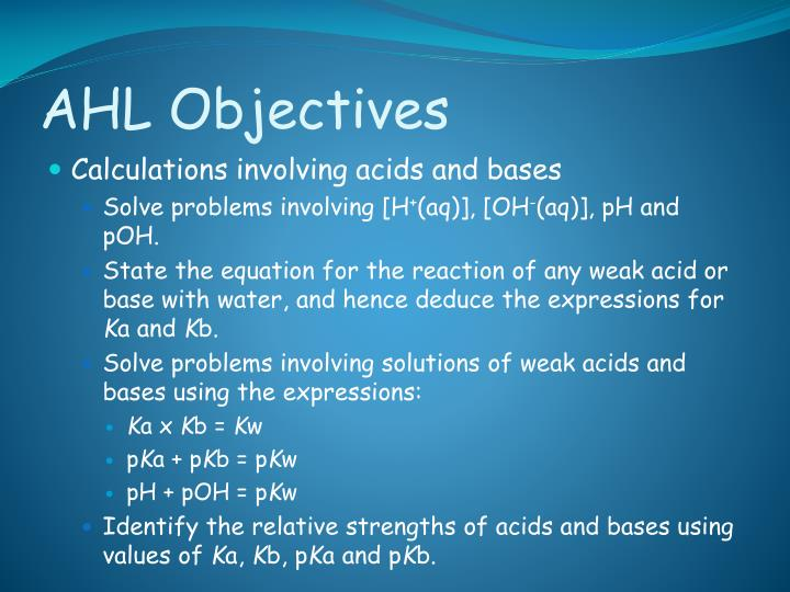 AHL Objectives