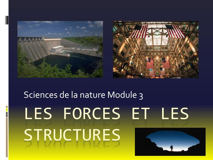 sciences de la nature module 3 n.