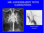 mr angiography with gadolinium