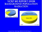 ncrp 160 report 2009 background population radiation