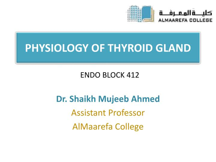 physiology of thyroid gland n.