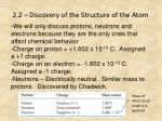 2 2 discovery of the structure of the atom