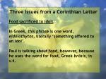 three issues from a corinthian letter10