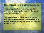 three issues from a corinthian letter11