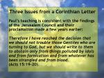 three issues from a corinthian letter12